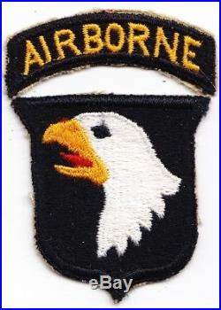 101st AIrborne Division Type 4 v-2 snowy backed WW2 US Army