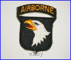 101st Airborne Division Patch Attached Tab WWII US Army P0839