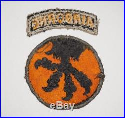 101st Airborne Division White Tongue Greenback Patch WWII US Army P7420