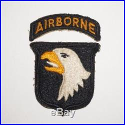 101st Airborne Division White Tongue Greenback Patch WWII US Army P7940