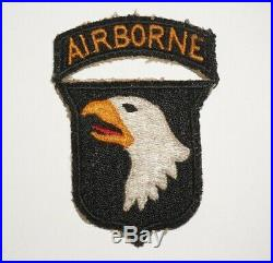 101st Airborne Division attached tab Patch WWII US Army P9272