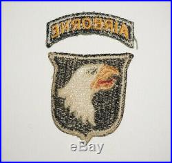 101st Airborne Division with tab Patch WWII US Army P0015