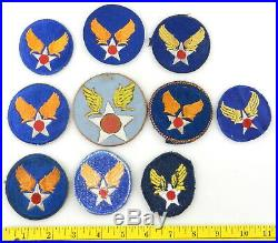 10 WWII US AAF ARMY AIR FORCE Leather Patch MILITARY Badge T70c9