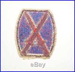 10th Mountain Division RARE Purple back Variation Patch WWII US Army P8815