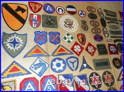 110 US Army PATCH LOT Unit/Division WWII/Vietnam RARE Vtg Orig OLD COLLECTION NR