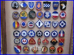 142 Ww2 U. S. Army Unit Patches Armies, Corps, Inf/div, & Ground Units Look