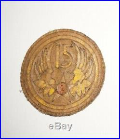 15th Air Force Leather Theater Made patch for flight jacket WWII US Army P0956