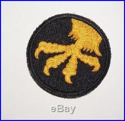 17th Airborne Division Rare Black Border Patch WWII US Army P8057