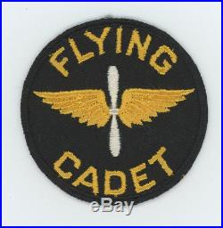 1930s to pre WW2 US Army Air Corps Flying Cadet patch SSI on twill