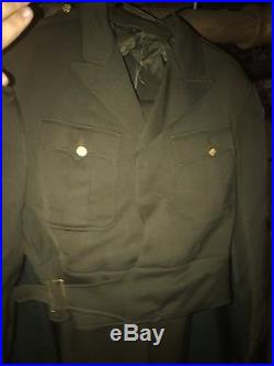 1942 U. S. Army AIR CORPS Officers IKE JACKET Bullion Patch WW2 AAC Size 40 Reg
