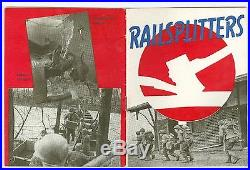 1946 US Army 84th Division Railsplitter WWII Europe, 1st Reunion, Decals Patches