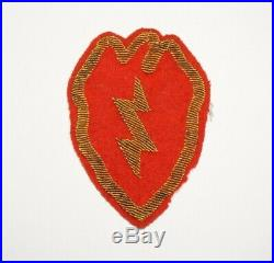 25th Infantry Division Bullion Patch Theater made WWII US Army P8895