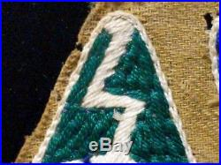 2X Patch Lot, WWII US Army LEDO Road Hand Embroidered Patch CBI Made Piece
