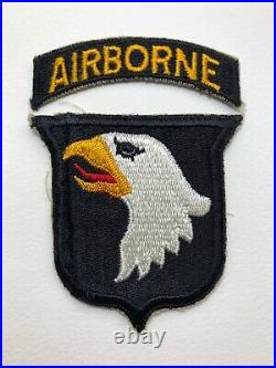 2 x ORIGINAL WWII US Army 101st Airborne Division Patches, EXC Cond. Types 1 & 2