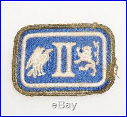 2nd Corps II Corps OD Border Greenback Patch WWII US Army P4755