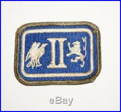 2nd Corps OD Border and Greenback patch WWII US Army P8924