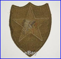 2nd Infantry Division OD Border Green Back Patch US Army WWII P1140