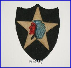 2nd Infantry Division Wool Felt Patch Pre WWII US Army P0708