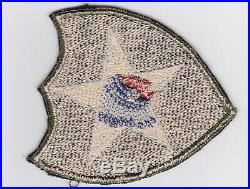 2nd Infantry Division patch OD green border row weave WWII WW2 US Army ORIGINAL