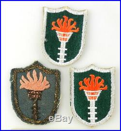 3 WWII US ARMY KOREAN COMMAND ZONE GROUND UNIT Patch MILITARY T70f2