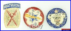 3pc WWII US Army Alaska Defense Western Pacific 10th Mountain Division Patches