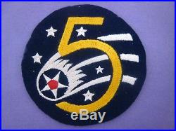 4-3/4 Aussie Made WW 2 US Army Air Forces 5th Air Force Jacket Patch FINE