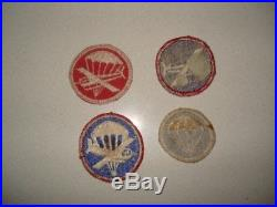 4 US Army Airborne Glider/Paratrooper Patches WW2 original in good condition