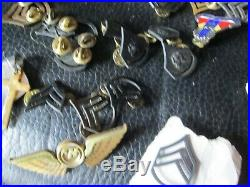 55 WWII-Viet Nam US Army Military Wings Insignia Pin Medals Patches Badges Brass