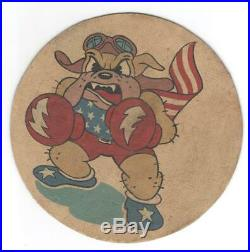 5-1/2 WW 2 US Army Air Force 62nd Fighter / Pursuit Squadron Patch Inv# M743