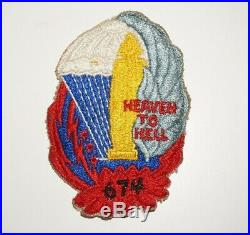 674th Parachute Field Artillery Battalion Patch WWII US Army P0411