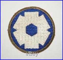 6ht Service Command OD Border White Back Patch WWII US Army P0320