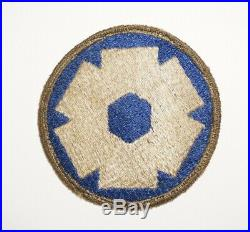 6th Service Command OD Border RARE Patch WWII US Army P9000