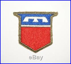 76th Infantry Division GREEN BACK Silver Bar Variation Patch WWII US Army P9009