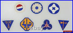 7pc WWII US Army Specialized Training Communications Weather Specialist Patches