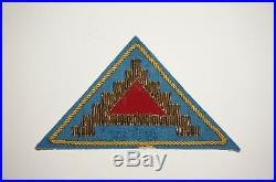 7th Army Bullion Theater Made Patch WWII US Army P8431
