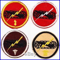 7th Cavalry Brigade Mechanized Lot of 9 on wool melton US Army 1932-1940 WW2