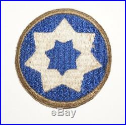 7th Service Command OD Border RARE Patch WWII US Army P8470