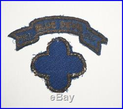 88th Infantry Division Blue Devils Bullion Patch and Tab WWII US Army P9487