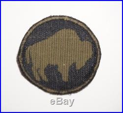 92nd Infantry Division Italian Theater Made Woven Patch WWII US Army P7859