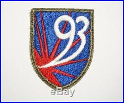 93rd Chemical Mortar Battalion Patch WWII US Army P9440