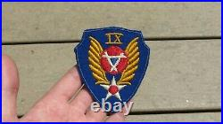 9th Aviation Engineer Command Army Air Force AAF Patch WWII US Army Original WW2