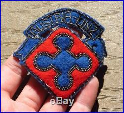 Austrian Tactical Command US Army Europe Austria Occupation Bullion Patch WW2