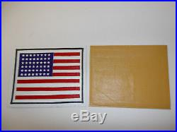 B1279 WW 2 US Army Air Force American Flag patch on leather large R8T
