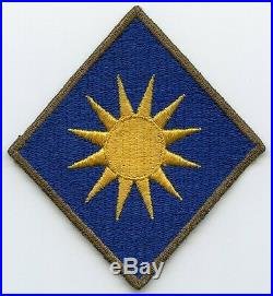 Beautiful WWII US Army 40th Division English-Made Shoulder Patch with O/D Border