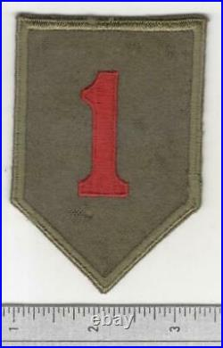 Black Back British Made WW 2 US Army 1st Infantry Division Patch Inv# B004