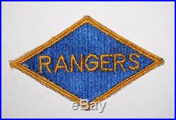 Black Back Rangers Diamond Ranger Patch Rare WWII US Army P4338