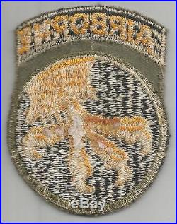 Bloodied WW 2 US Army 17th Airborne Division Patch with Attached Tab Inv# A459