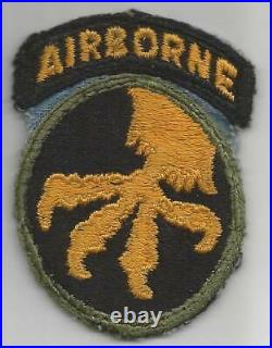 Blue Base Off Uniform WW 2 US Army 17th Airborne Division Patch Inv# M045