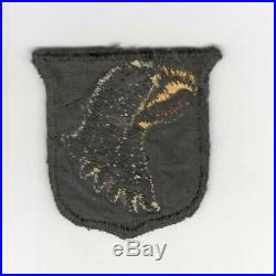 British Made WW 2 US Army 101st Airborne Division Black Back Patch Inv# R045