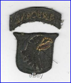 British Made WW 2 US Army 101st Airborne Division Patch & Tab Inv# X141